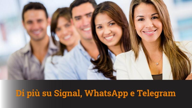 Approfondimenti su Signal, WhatsApp e Telegram – MN #76